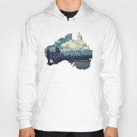 australia Hoodies featuring Australia by elysiancreations