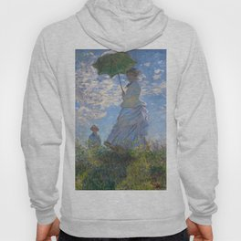 1875-Claude Monet-Woman with a Parasol - Madame Monet and Her Son-81 x 100 Hoody