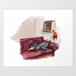 A lazy penguin Art Print