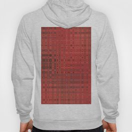 Colour Through Pattern Red Hoody