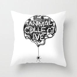 Animal Collective Throw Pillow