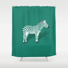 Animal Kingdom: Zebra III Shower Curtain