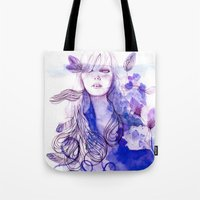 nausicaa Tote Bags featuring Nausicaa by Sarah Bochaton