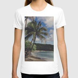 Hawaii Haze - Tropical Beach with Palm Trees T-shirt