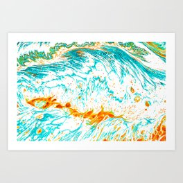 Waves of Thought #abtsract #painting Art Print