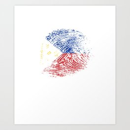 It's In My Dna Philippines Vintage Flag Filipino Pride Gift Art Print