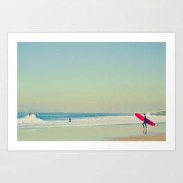 Red Long Board Art Print