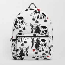Steel Drum Friesian cow. Backpack