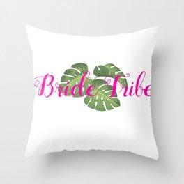 Tropical Bride Tribe Gear Throw Pillow