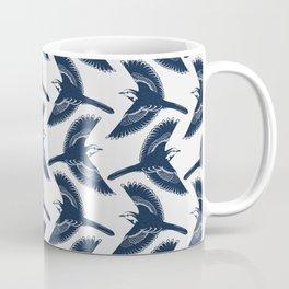 White Wagtails Pattern Coffee Mug