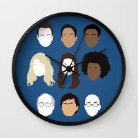 community Wall Clocks featuring Community by Bill Pyle