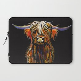 Scottish Highland Cow ' STEWART ' by Shirley MacArthur Laptop Sleeve