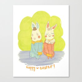 Easter Bunnies Canvas Print