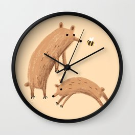 Bee & Bears Wall Clock