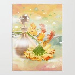 Duft der Blume - farbig Poster