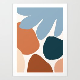 Rocks on the Beach Art Print