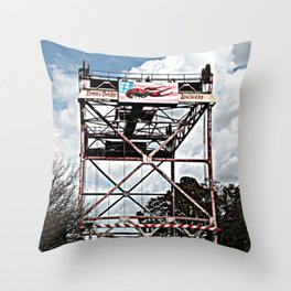 Le Pont de Pont Breaux (The Bridge of Breaux Bridge) Throw Pillow