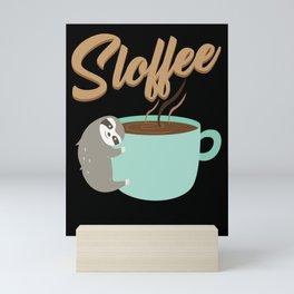 Sloffee | Coffee Sloth Mini Art Print