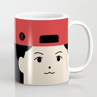 exo Mugs featuring Baekhyun EXO Mascot by teawithgodot
