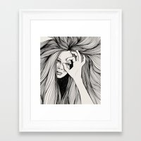 leo Framed Art Prints featuring Leo by Hanna Viktorsson