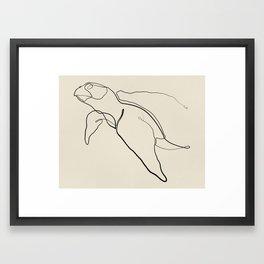 The Sea Turtle Line Framed Art Print