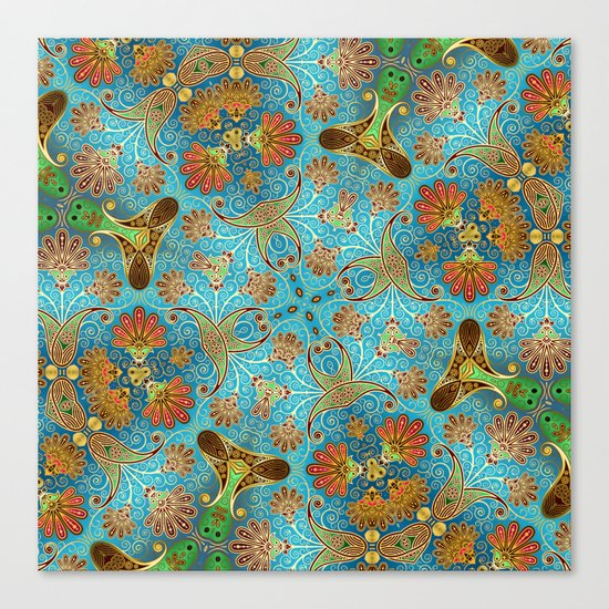 Indian Floral Canvas Print