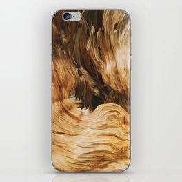 Rock wood iPhone Skin