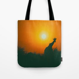 Lonely Sunset Giraffe Tote Bag