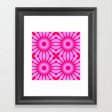 Fuchsia Pink Flowers Mandala Framed Art Print