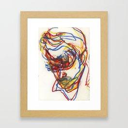 Head of a Young Man Study 1 Framed Art Print