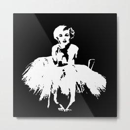 Marilyn Monroe Stencil Metal Print