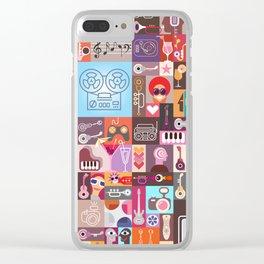 Graphic Art Design Clear iPhone Case
