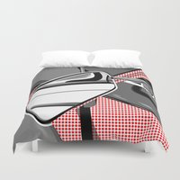 mercedes Duvet Covers featuring Rearview Mirror by Paco Dozier