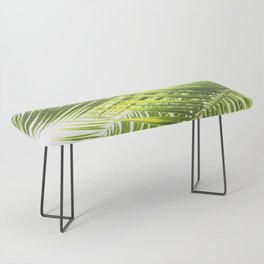 Palm leaves tropical illustration Bench