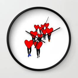 Heart Walk Wall Clock
