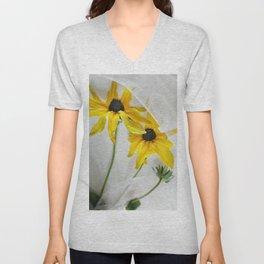 Yellow coneflowers Unisex V-Neck