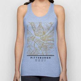 PITTSBURGH PENNSYLVANIA CITY STREET MAP ART Unisex Tank Top