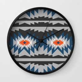Wintry ethnic pattern Wall Clock