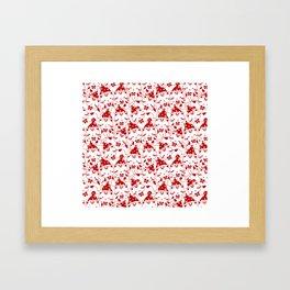 Winter Cats in Hats Framed Art Print
