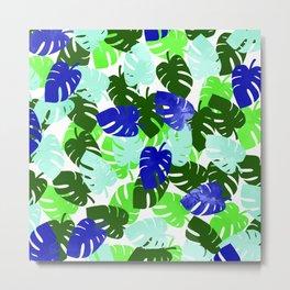 Palm Leaves Pattern Metal Print