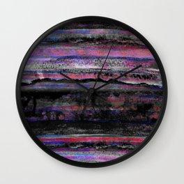 layers in purple Wall Clock