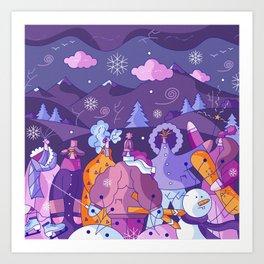 Winter Lookbook Art Print
