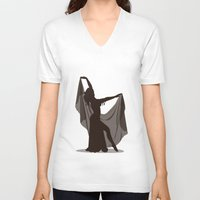 arabic V-neck T-shirts featuring arabic dancer by Ricardo Jeronimo