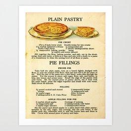 Pies - Vintage Art Print