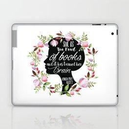 Too Fond Of Books Laptop & iPad Skin