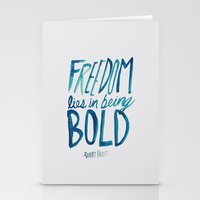 freedom Stationery Cards featuring Freedom  by Leah Flores