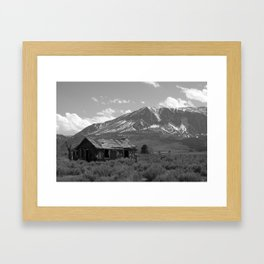 Shack South of Tahoe (black and white) Framed Art Print