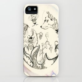 Circle of Objects And  Subjects; Round One Series iPhone Case