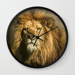 Lion on the alert Wall Clock