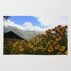 Daisies and Alps Rug